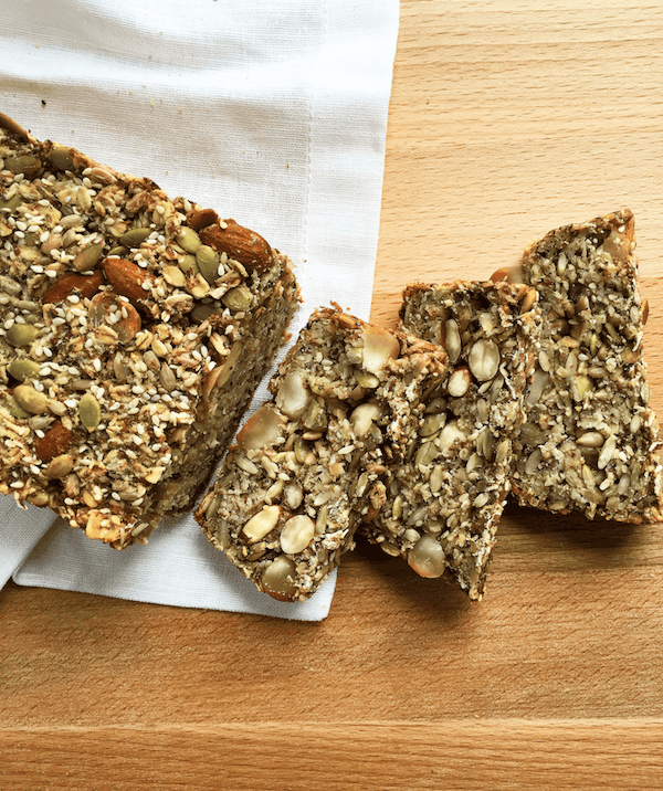 Easy Gluten Free Nut Seed Bread