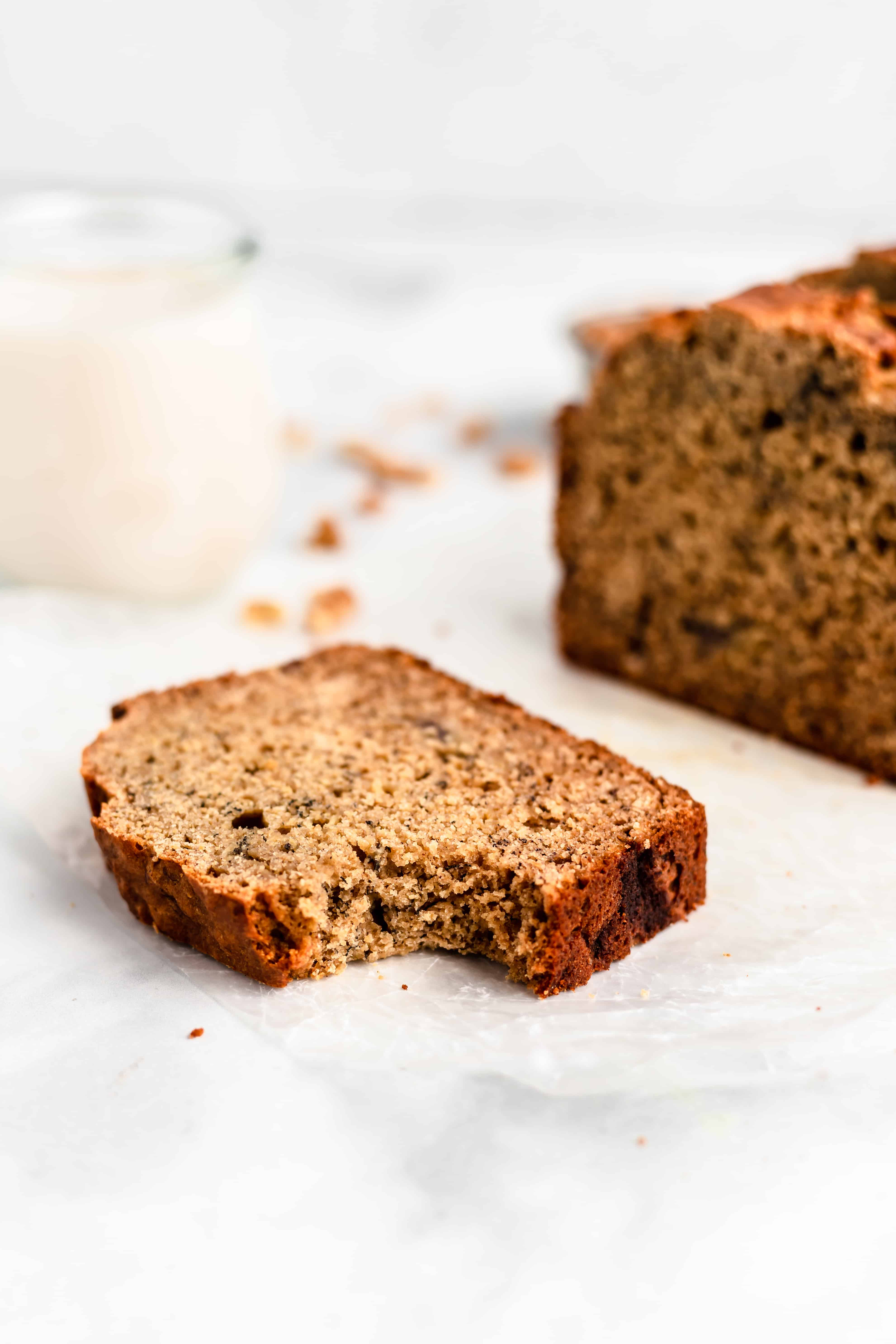 The BEST Whole Wheat Banana Bread - so moist!!
