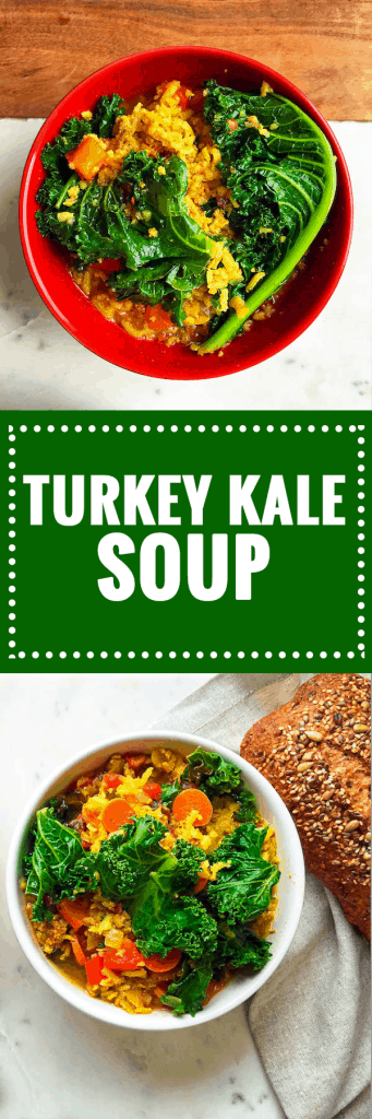 Hearty and Healthy Turkey Kale Brown Rice Soup
