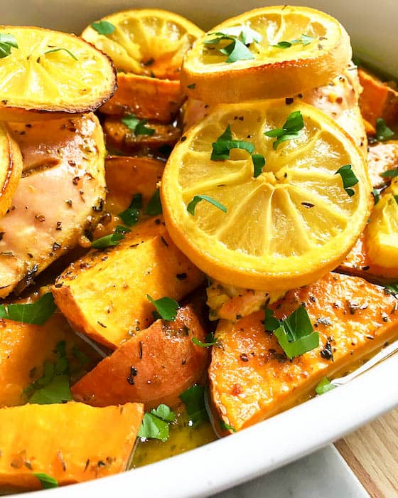 Healthy Lemon Chicken With Sweet Potatoes