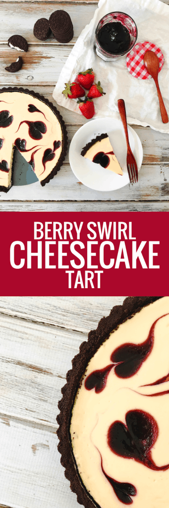 Berry Swirl Cheesecake Tart - simple, foolproof, delicious!