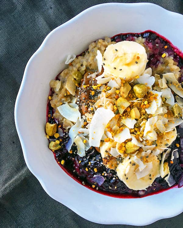 Breakfast Bulgur with Blueberry Sauce is a warm, nutritious, filling, and of course – a delicious way to begin your day.