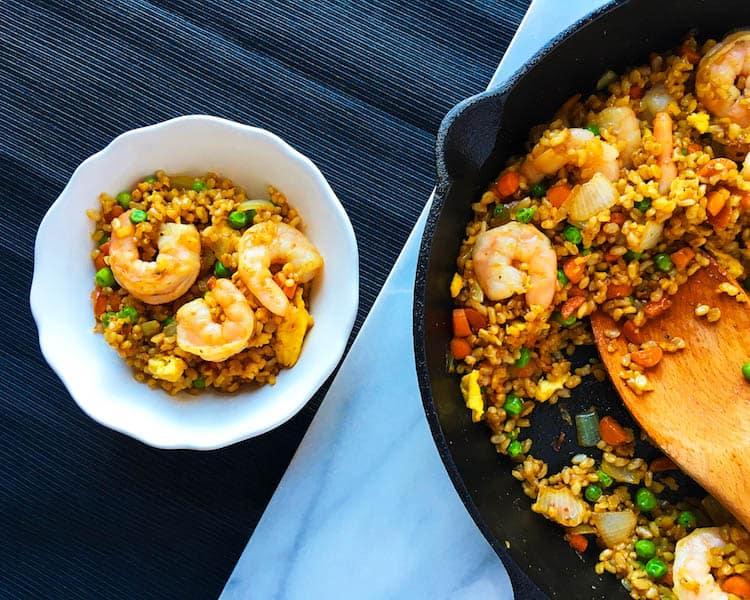 15 minute Shrimp Fried Rice