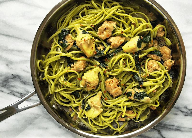 Spinach Artichoke Linguine