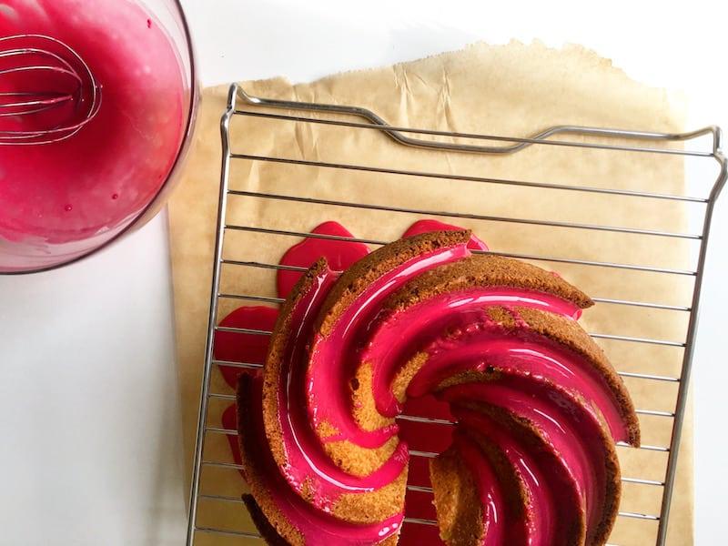 Hibiscus Glaze Cake