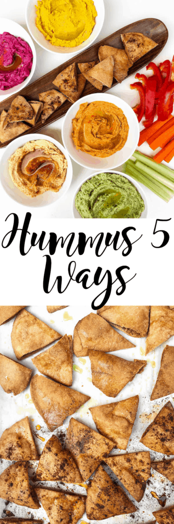 Hummus 5 Ways ... YUM!!