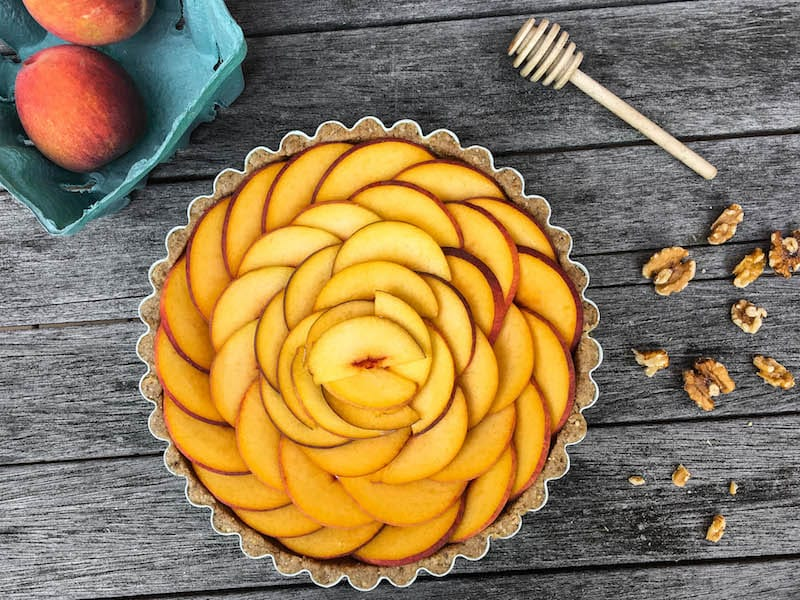 no-bake-fresh-peach-tart