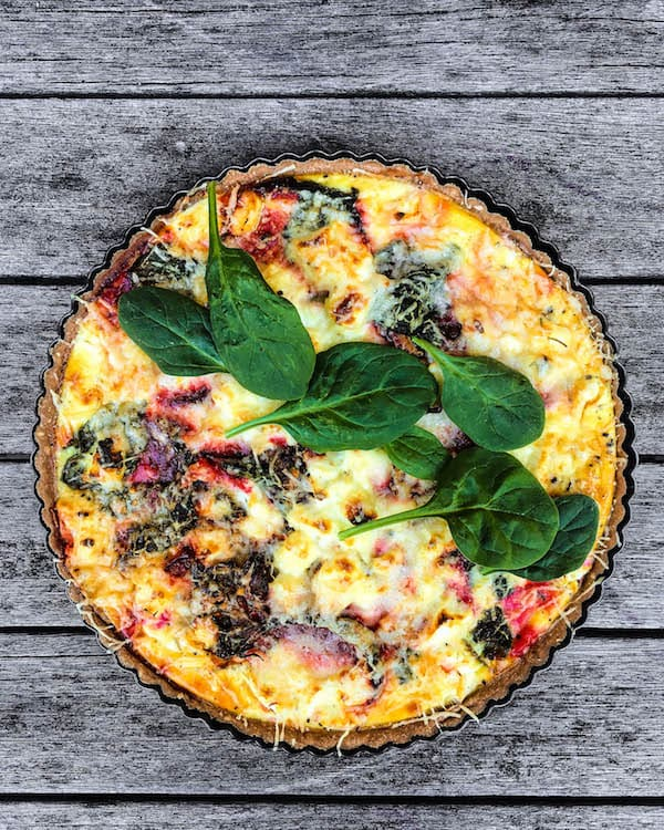 roasted-beet-spinach-goat-cheese-quiche