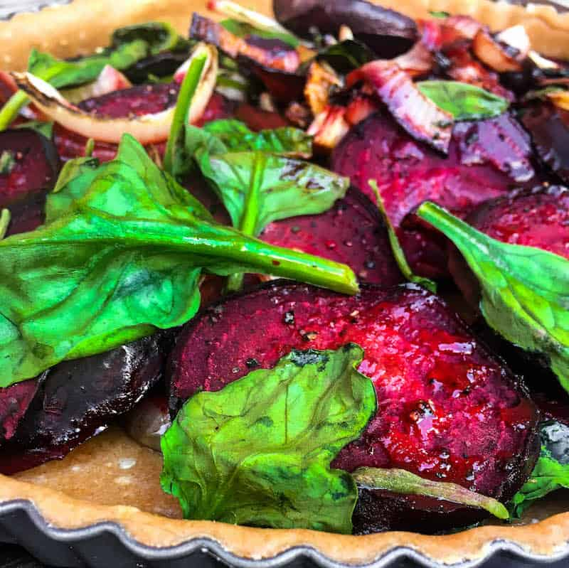 roasted-beet-spinach-quiche
