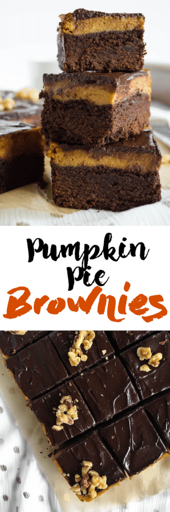 Pumpkin Pie Layer Brownies
