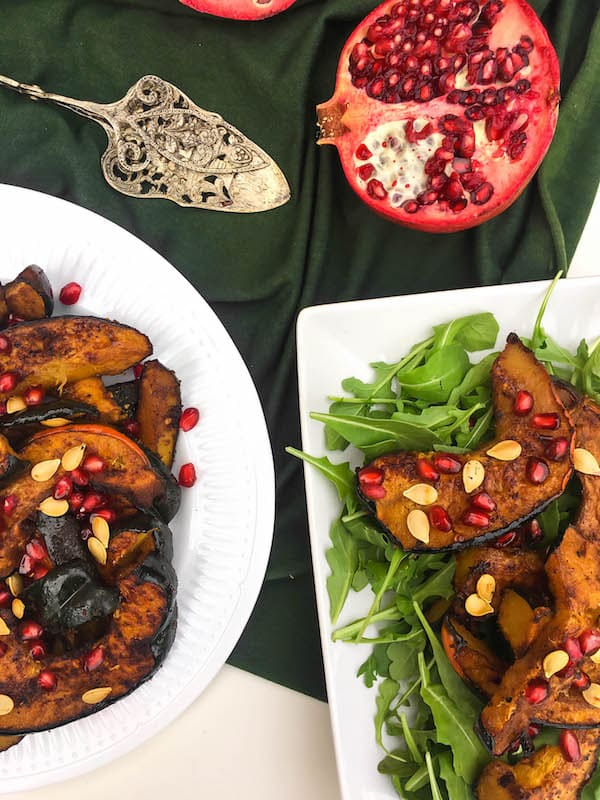 fall-acorn-squash-pomegranate-salad