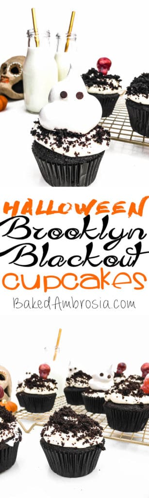 Halloween Blackout Cupcakes