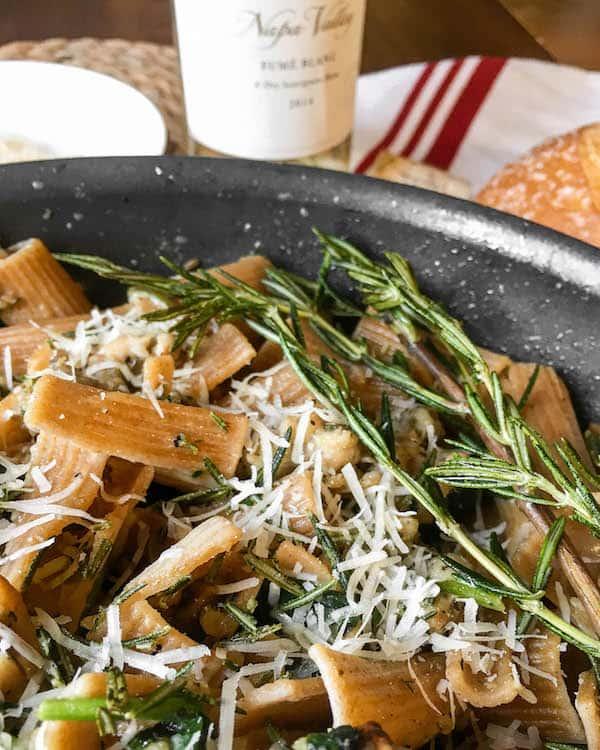 mushroom-spinach-pasta