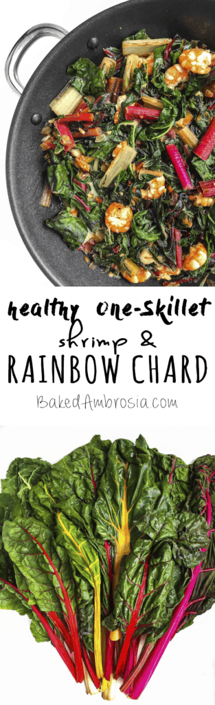 Healthy Shrimp and Rainbow Chard