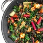 Healthy One-Skillet Shrimp with Rainbow Chard
