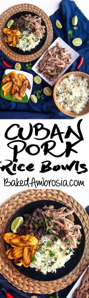 Cuban Pork Rice Bowls