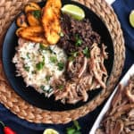 Cuban Pork Rice Bowls with Black Beans and Plantains