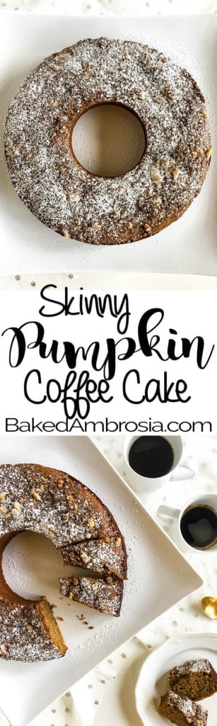 Skinny Pumpkin Coffee Cake Recipe