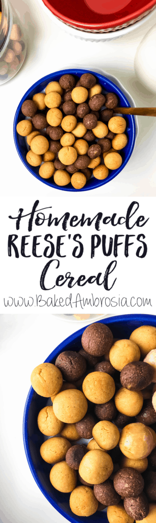 Healthier Homemade Reese's Puffs Cereal