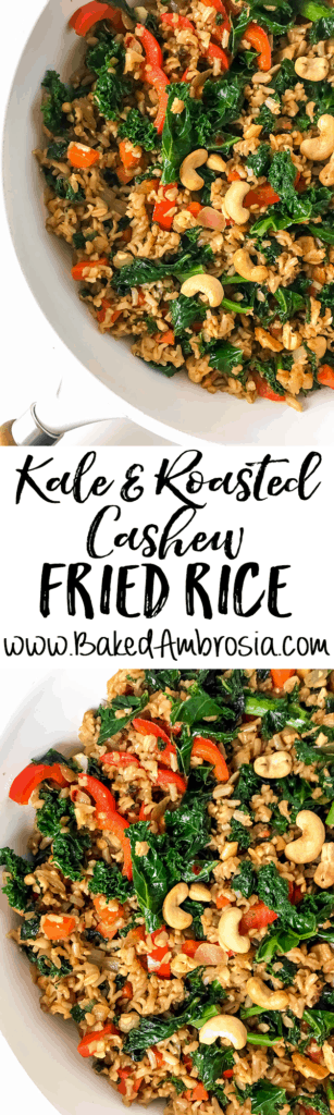 Kale and Roasted Cashew Fried Rice
