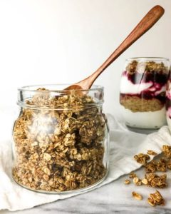 Low sugar granola