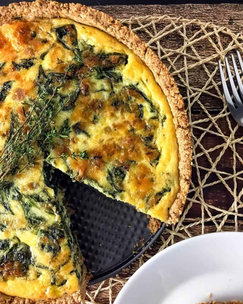 Spinach Quiche With Whole Grain Crust Baked Ambrosia