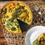 Spinach Quiche with Whole-Grain Crust