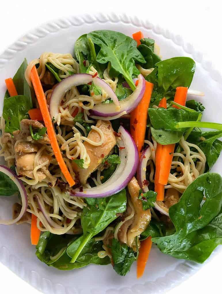 Gluten Free Asian Chicken Noodle Salad Recipe