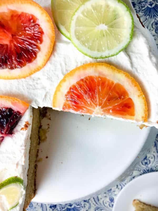 Boozy Blood Orange Margarita Cake | Baked Ambrosia