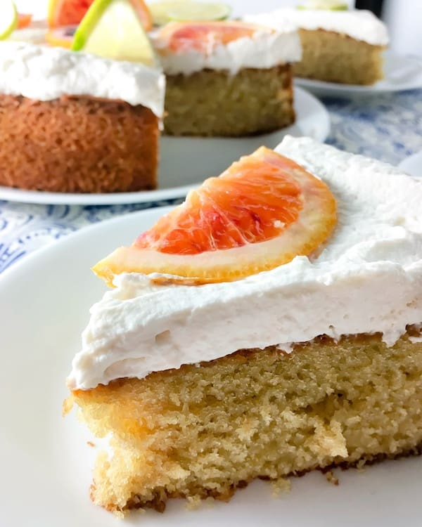 Boozy Blood Orange Margarita Cake