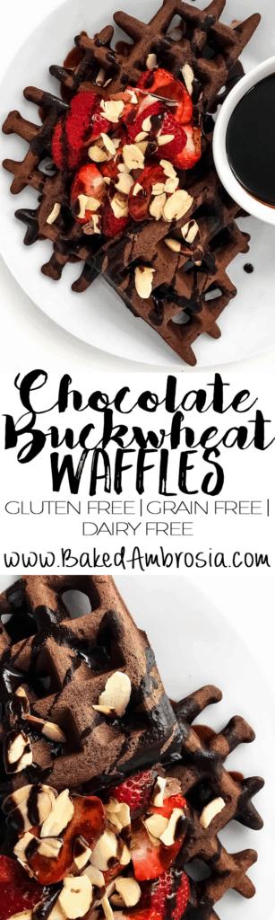 Chocolate Buckwheat Waffles (Gluten Free, Grain Free, Dairy Free)