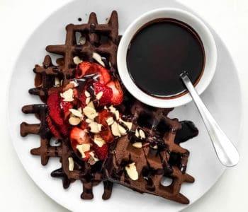 Gluten Free Chocolate Buckwheat Waffles