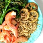 Lemon Shrimp Orzo Bowls with Broccolini