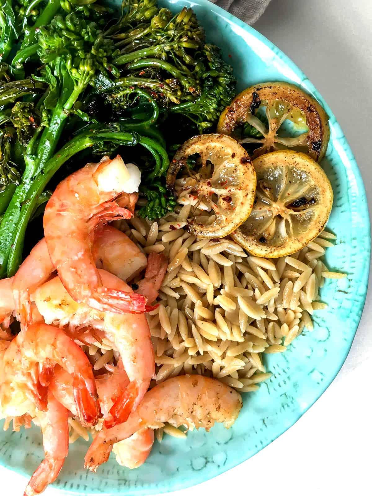 Healthy Lemon Shrimp Bowl