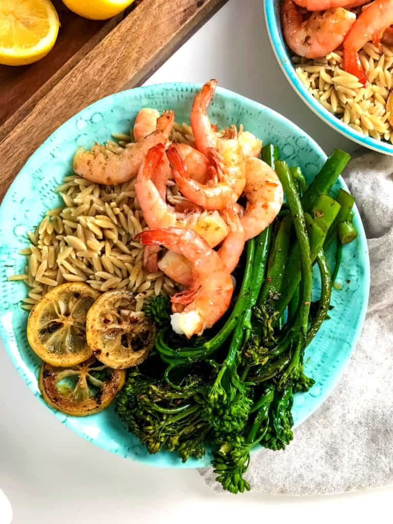 Shrimp Orzo Bowl