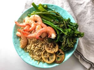 Shrimp Broccolini Orzo Bowl