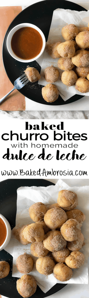 Baked Churros with Homemade Dulce de Leche