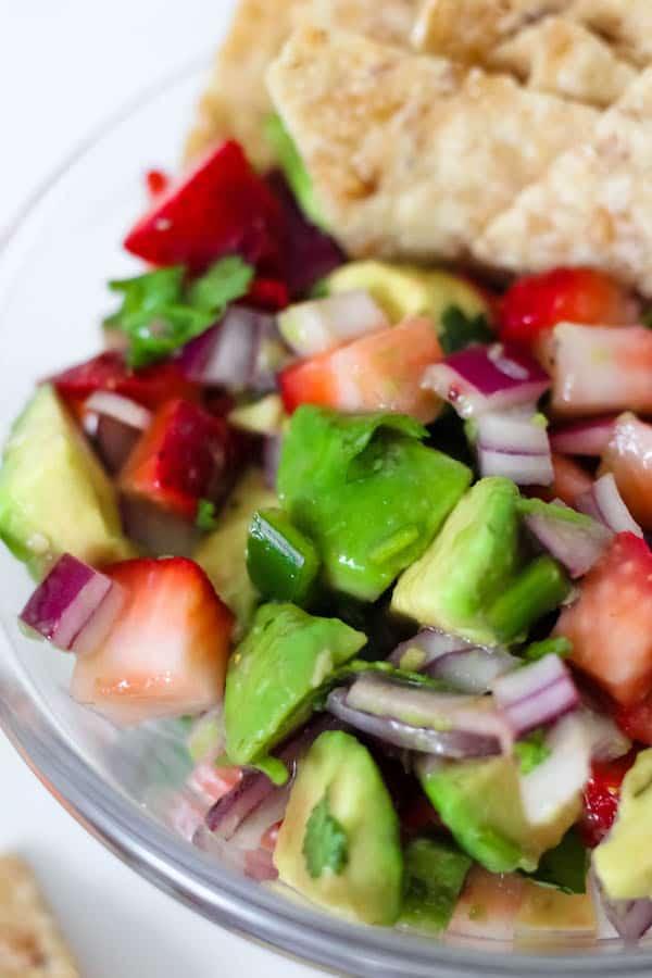 Healthy Strawberry Avocado Salsa