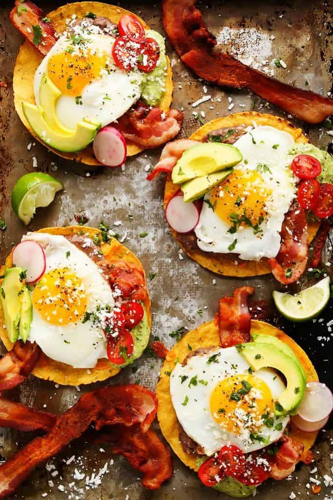 Bacon Breakfast Tostadas | Platings and Pairings