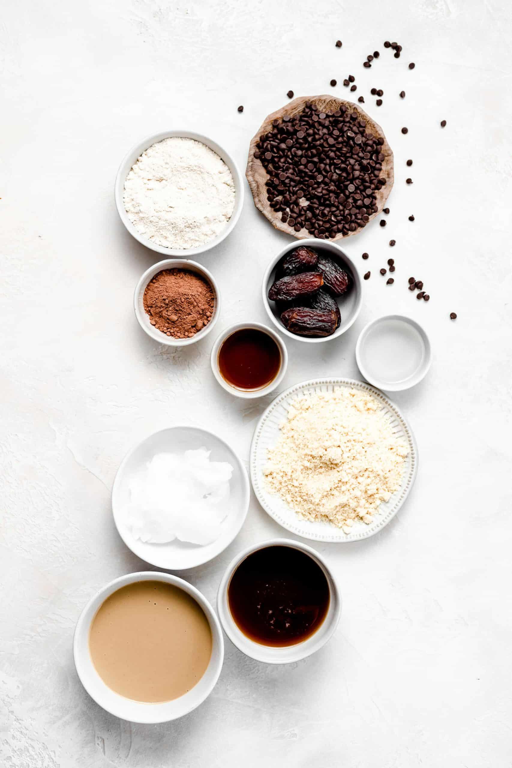 vegan/gluten free chocolate tahini bar ingredients