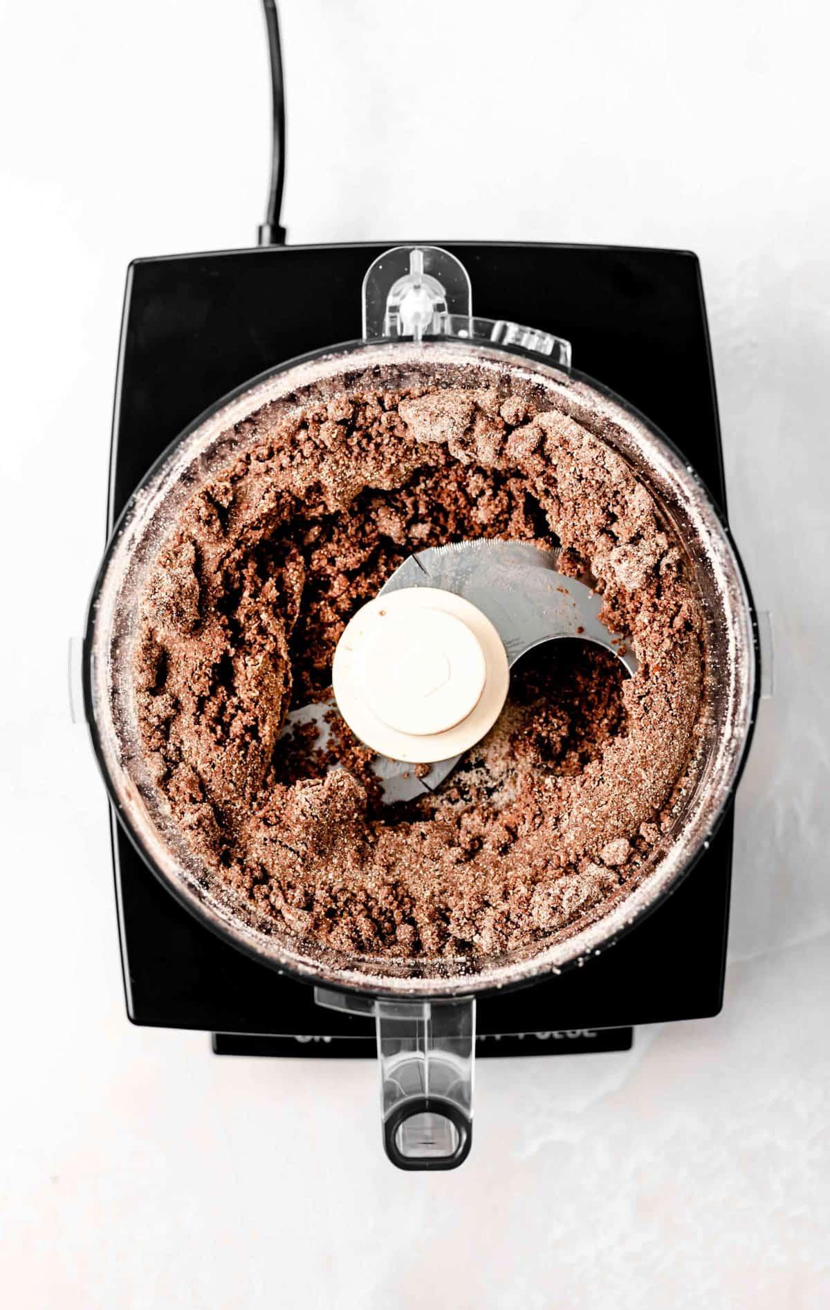 Tahini bar crust in food processor