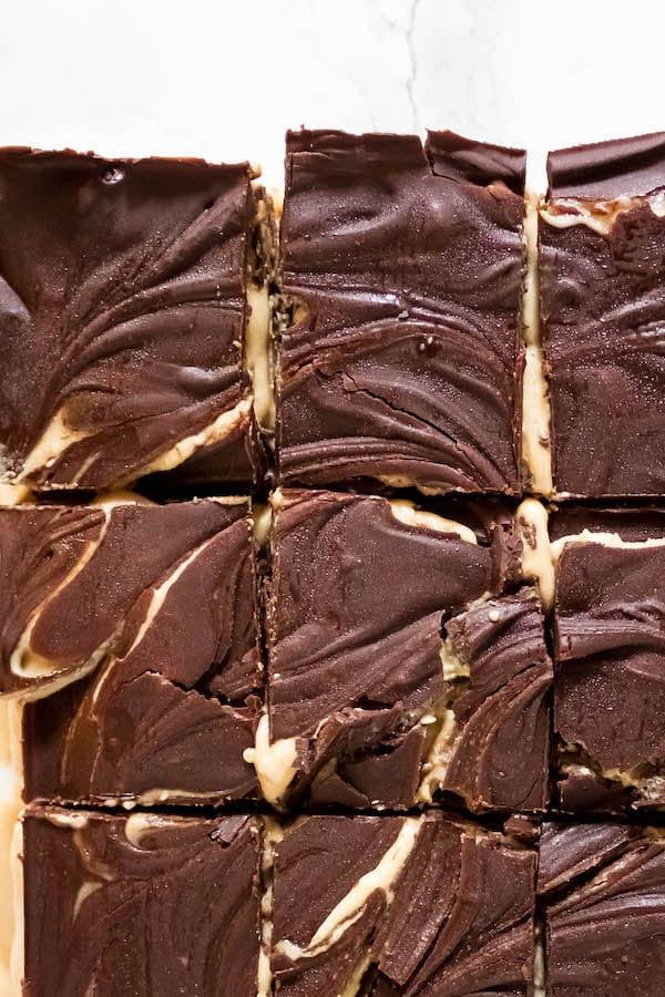 Dark Chocolate Tahini Bars Vegan Gluten Free