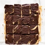Dark Chocolate Tahini Bars (Vegan + Gluten Free)