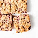 blackberry oat crumb bars