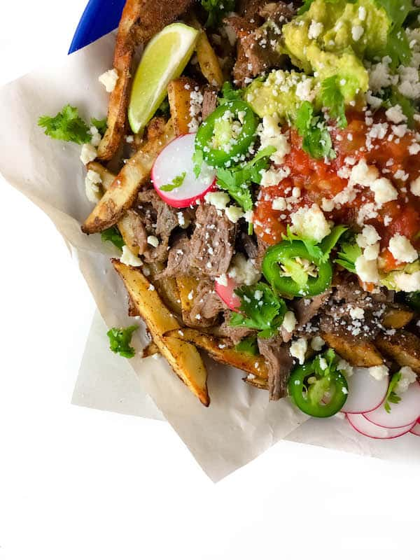 Loaded Mexican Shredded Beef Fries