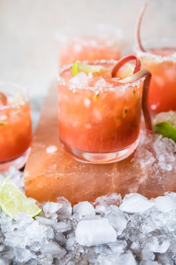 Rhubarb Passion Margarita | Half Baked Harvest