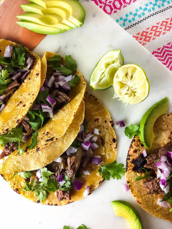 Easy Shredded Beef Tacos - Baked Ambrosia