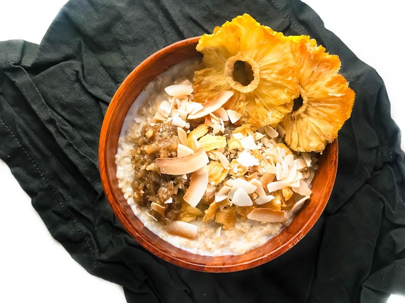 how to make steel cut oats with coconut milk