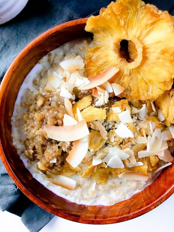 Tropical Steel Cut Oats Gluten Free Vegan No Refined Sugar