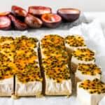 No Bake Coconut Passionfruit Bars (Gluten Free, Paleo, Vegan)